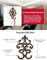 amazon com cast iron vintage double wall hook decorative wall