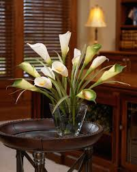silk calla lilies buy calla foliage silk flower centerpiece at officescapesdirect
