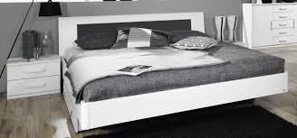 chambre carcassonne lit adulte design avec chevets coloris blanc carcassonne lit