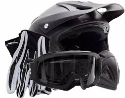 motocross gear cheap combos motocross helmet gloves goggles combo matte black dirt bike