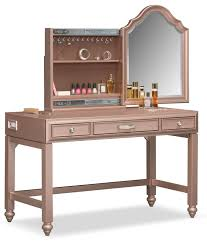 Youth Vanity Table Serena Vanity And Mirror Rose Quartz Value City Furniture