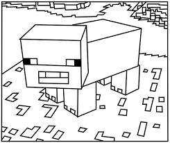minecraft pig coloring pages coloring