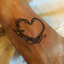 fish hook heart tattoo tattoo collections