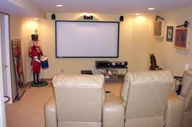 remodeling projector and projection screen installation