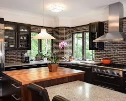 Stunning Brick Backsplash Tile Images Home Decorating Ideas And - Brick backsplash tile