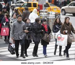 5th ave at rockefeller cntr in nyc on black friday the day after