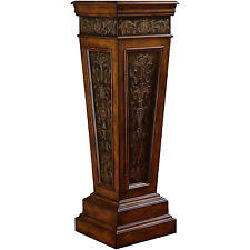 Greek Pedestal Wood Pedestal Home U0026 Garden Ebay