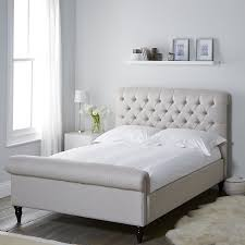 aldwych linen union scroll bed beds the white company uk
