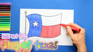 State Flag Of Texas How To Draw And Color The State Flag Of Texas Youtube