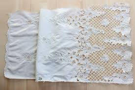 Wedding Dress Fabric Vintage Embroidered Cord Bridal Lace Fabric For Wedding Dress