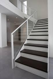 interior beautiful staircase timber tread handrail wood cut