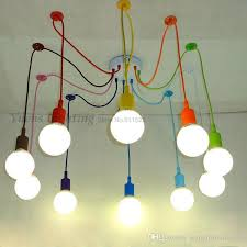 Light Fittings For Bedrooms E27 Spider Colored Pendant Lighting Children S Room Bedroom