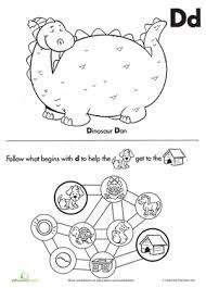 dinosaur dan and the letter d worksheet education com