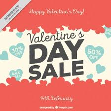 valentines sales retro background of s day sales vector free