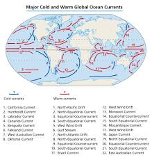 Ocean Currents Map Major Ocean Currents Of The World Tips To Remember Ras Exam