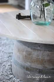 small wine barrel side table home table decoration