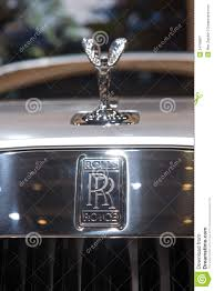 roll royce logo rolls royce logo and statuette editorial photography image 34758607