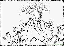 coloring pages volcano volcano coloring pages free for volcano landscape ideas elem art
