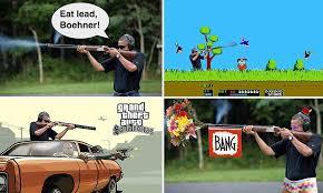 Obama Shooting Meme - photo of obama skeet shooting provides ammunition for pranksters as
