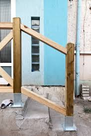 Deck Stair Handrail Height How To Build Deck Stair Railings Howtospecialist How To Build