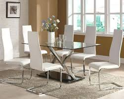 glass top dining table set 6 chairs glass dining table 6 chairs lesdonheures com