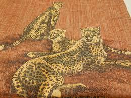 home decor fabric remnant fabric novelty cheetah jacquard