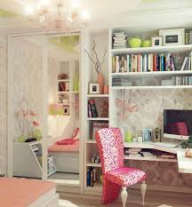 lovely modern teen bedroom with corner study room design idea feat