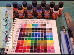 creating a color mixing guide chart acrylic painting tutorial