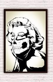 marilyn monroe skull bandana balaclava boho decor zoom