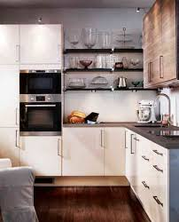 fabulous brown wooden cabinets feat mosaic backsplash and l shaped