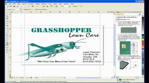create a business card with coreldraw youtube