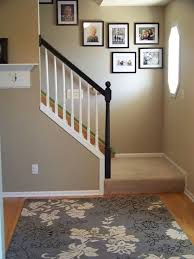 Painting A Banister White Black And White Painted Banisters Railings Stair Railing