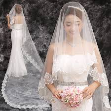 bridal veil aliexpress buy 2017 new wedding veil cathedral 3 meter
