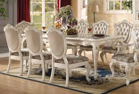white dining room set chantelle pearl white dining room set by acme furniture home