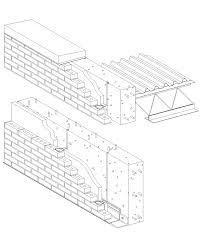 cavity wall brick veneerreinforced cast in place concrete haammss