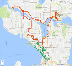 Seattle Area Code Map by Emerald City Trolley
