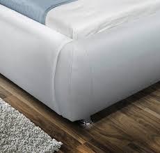 Schlafzimmer Bett Auf Raten Sale Doppelbett Polsterbett Bett 180 X 200 Cm Weiß Dallas