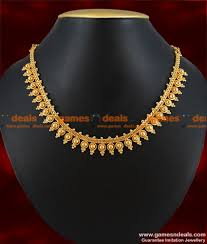 gold plated bead necklace images Nckn135 gold plated attigai traditional beaded choker design jewelry jpg