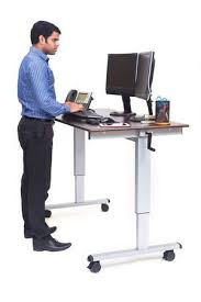 Upright Computer Desk C Standup Cf60 Dw 60 Sit To Stand Crank Adjustable Computer Desk