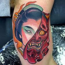 hannya mask samurai tattoo japanese hannya tattoos origins meanings ideas tatring