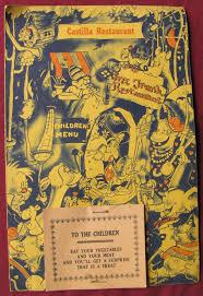 cartoon snap vintage u201chow to draw cartoons u201d kids menu by hal cooper