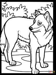 free printable wolf coloring pages for kids in page eson me