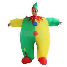 Blow Halloween Costume Clown Suit Inflatable Blow Funny Men Joker Costume Fancy
