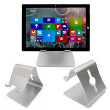 amazon com duragadget silver aluminium desktop tablet stand for