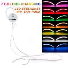 Led Light Bar Color Changing by Amazon Com Led Eyelashes Light With 7 Color Unisex Flashes