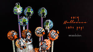 How To Make Halloween Cake Pops Easy Halloween Cake Pop Tutorial Pint Sized Baker