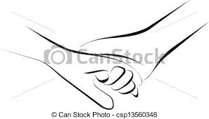drawing of holding hands couple holding hands csp13560348