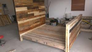 Bed Frame Plans With Drawers Diy Pallet Wood Bed Frame 101 Pallets Within How To Make A Wooden