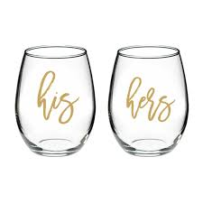 his hers wine glasses accessories sabrina couture finely curated sles