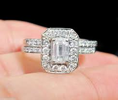 Kay Jewelers Wedding Rings Sets by Kay Jewelers Engagement Emerald Cut Diamond Ring Wedding Band Set